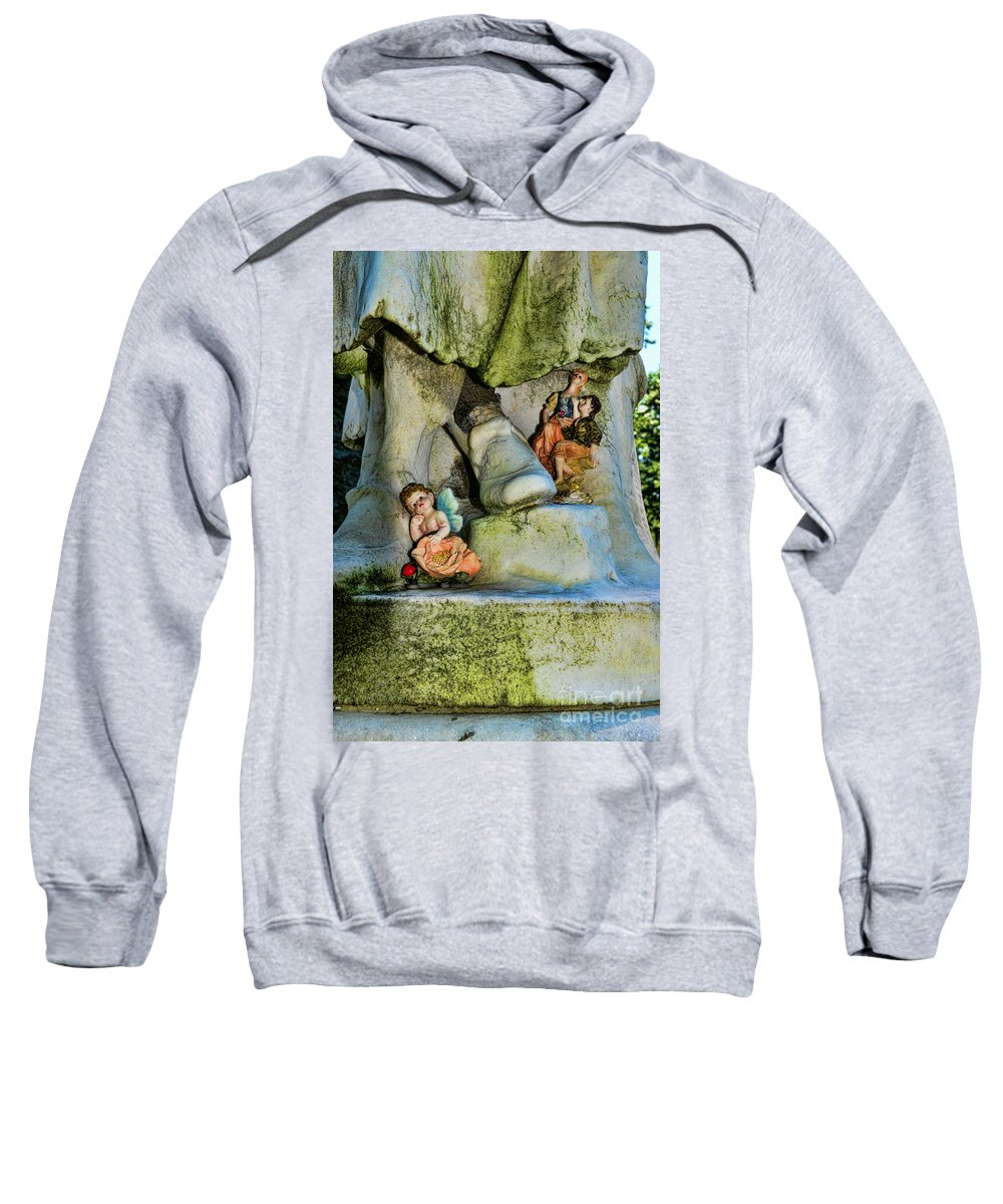Small Gifts For The Departed Sweatshirt featuring the photograph Small Gifts For The Departed by Paul Ward