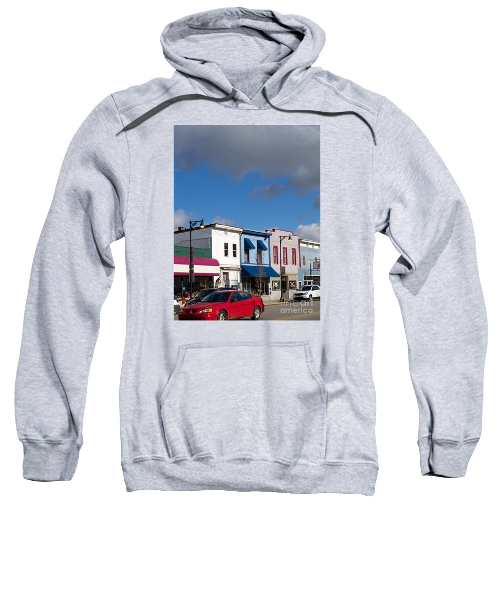 Stores Sweatshirt featuring the photograph Small Town Usa by Ann Horn