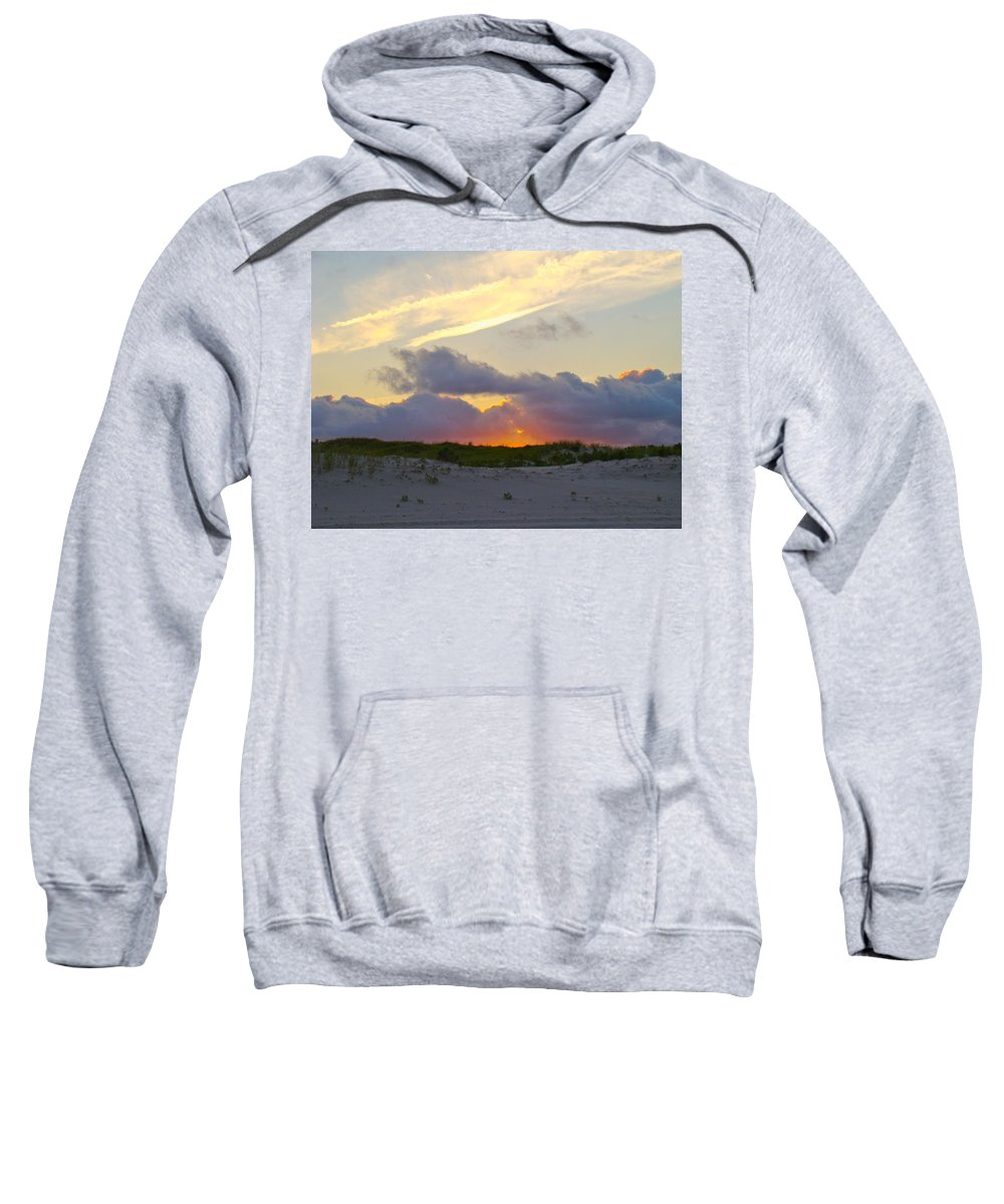 Sunset Sweatshirt featuring the photograph Smoke From A Distant Fire 2 by Mother Nature