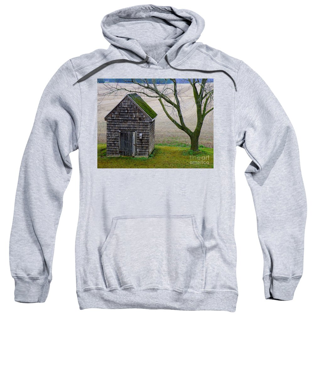 Farm Sweatshirt featuring the photograph Smoke House by Lainie Wrightson