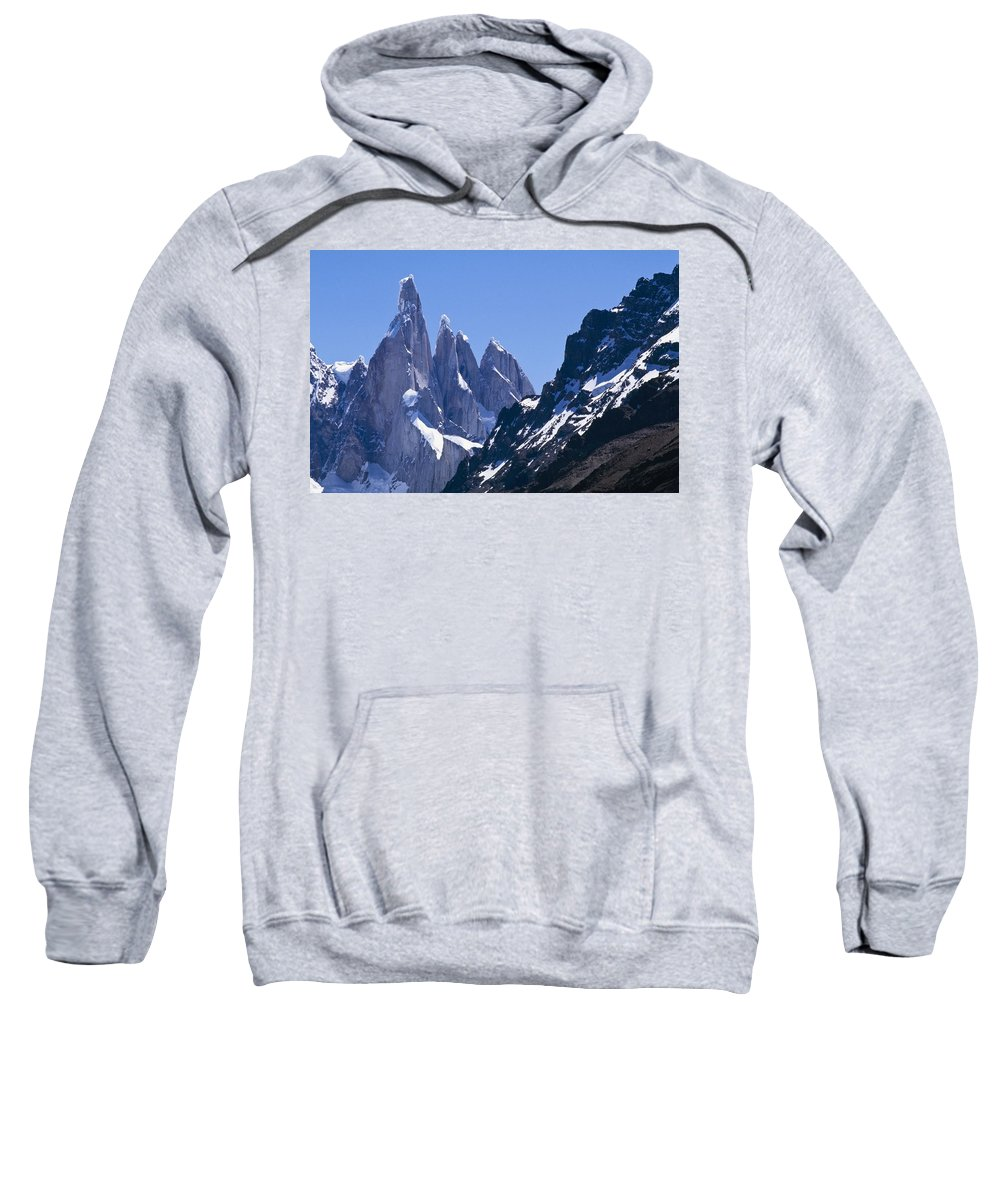 Horizontal Sweatshirt featuring the photograph Snow Covered Mountains by Axiom Photographic