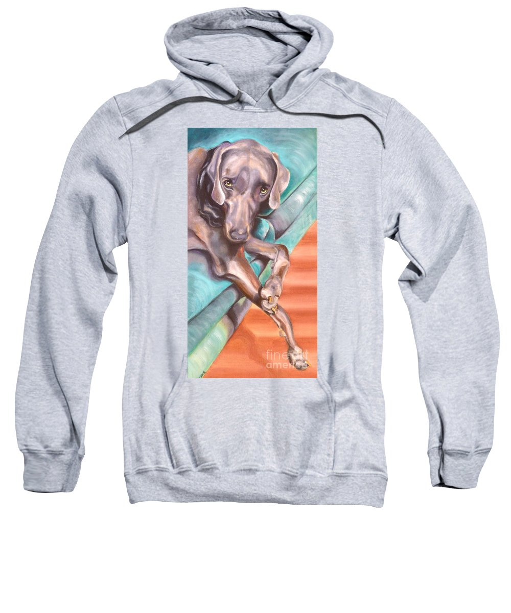 Dog Sweatshirt featuring the painting Sofa Serenade 1 by Susan A Becker