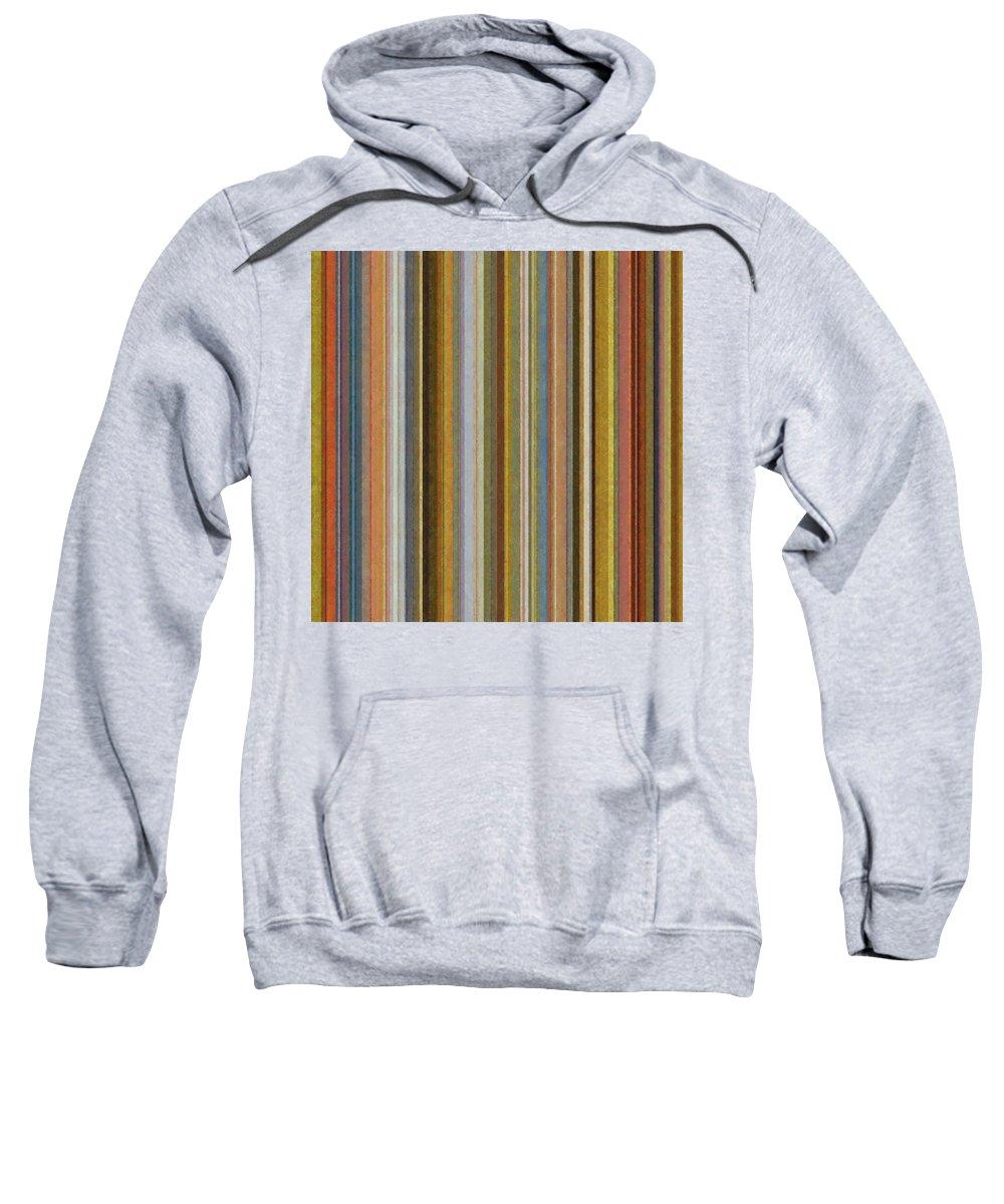 Textured Sweatshirt featuring the digital art Soft Stripes Ll by Michelle Calkins