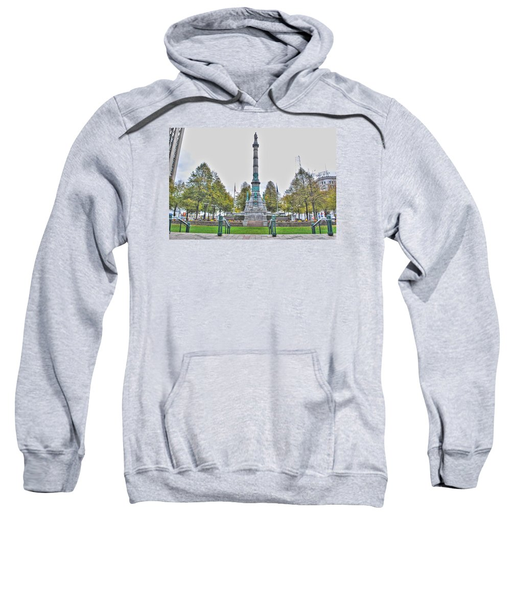 Sweatshirt featuring the photograph Soldiers And Sailors Monument In Lafayette Square by Michael Frank Jr