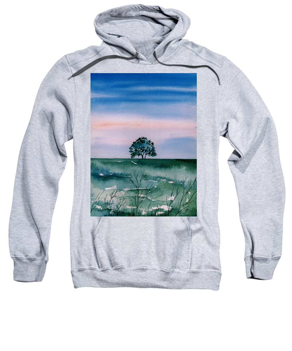 Watercolor Sweatshirt featuring the painting Solo by Brenda Owen
