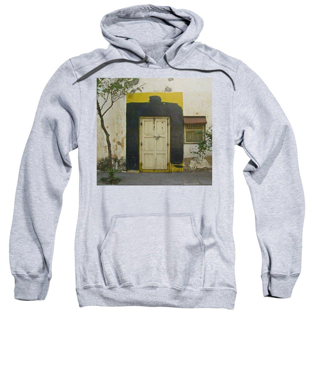 Sweatshirt featuring the photograph Somebody's Door by David Pantuso
