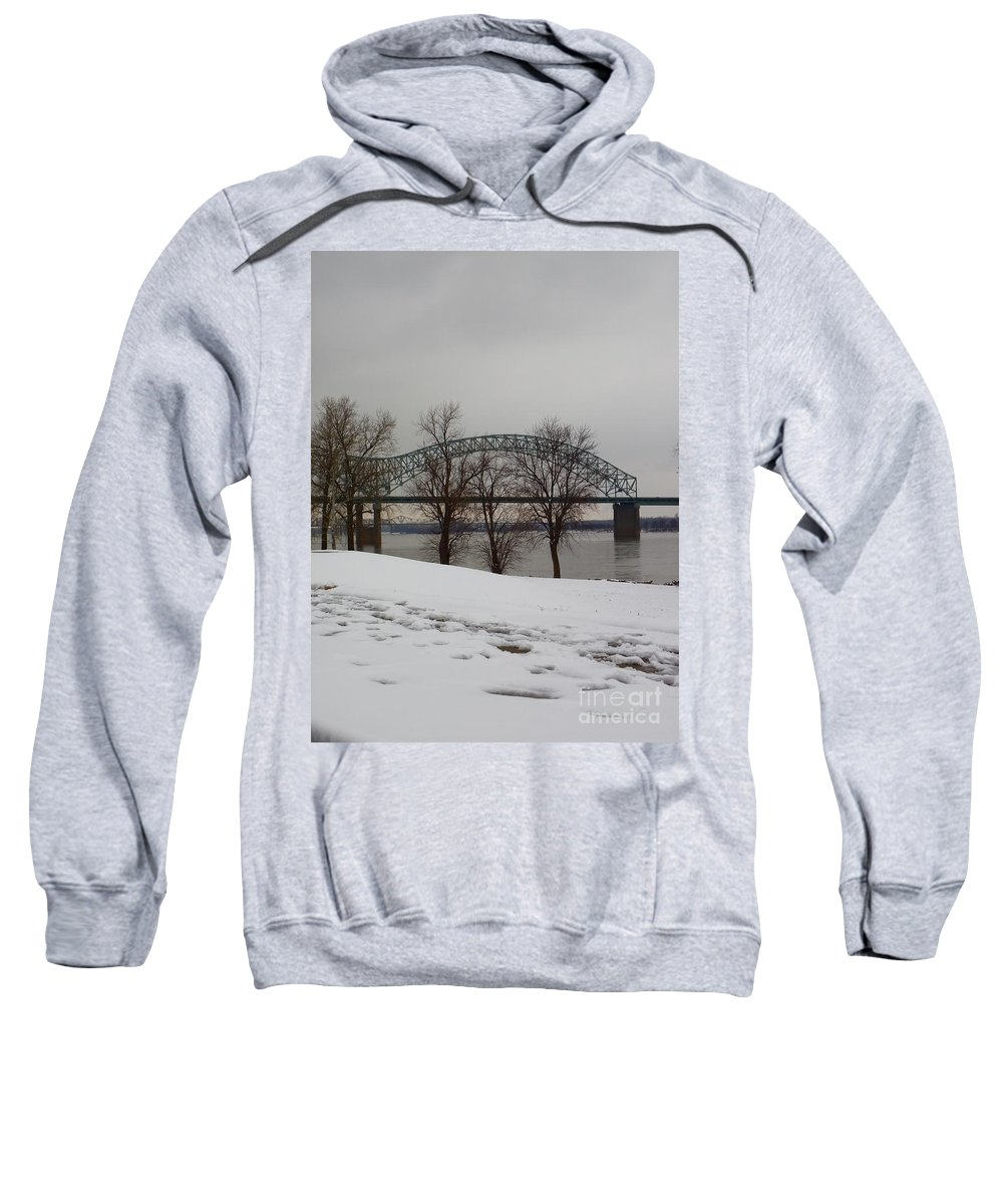 Bridge Sweatshirt featuring the photograph Southern Snow by Charleen Treasures