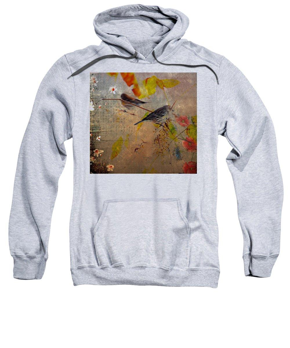 Bird Sweatshirt featuring the photograph Sparrow by Todd Hostetter