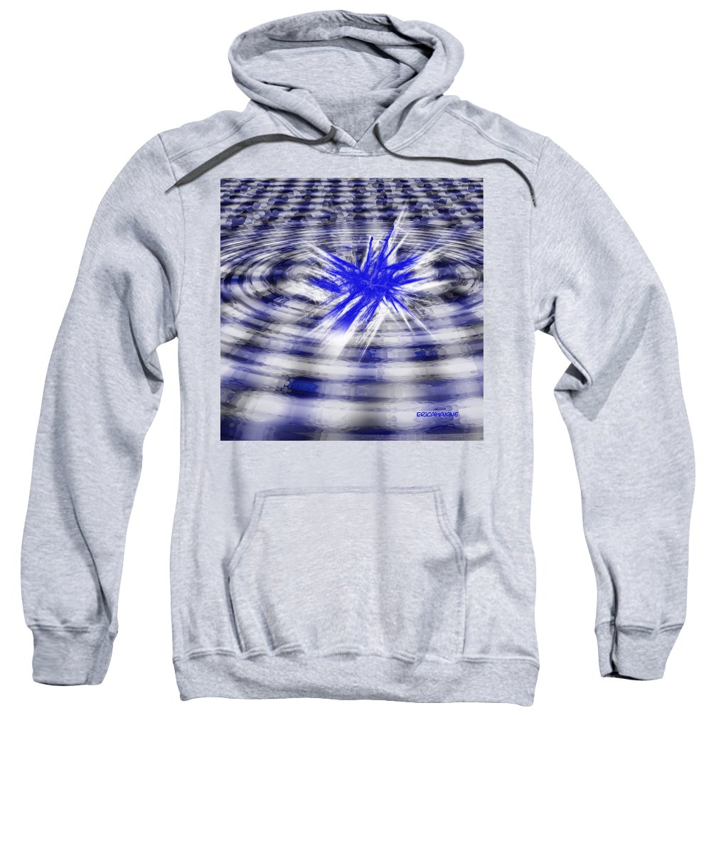 Digital Art Sweatshirt featuring the digital art Splash by Ericamaxine Price
