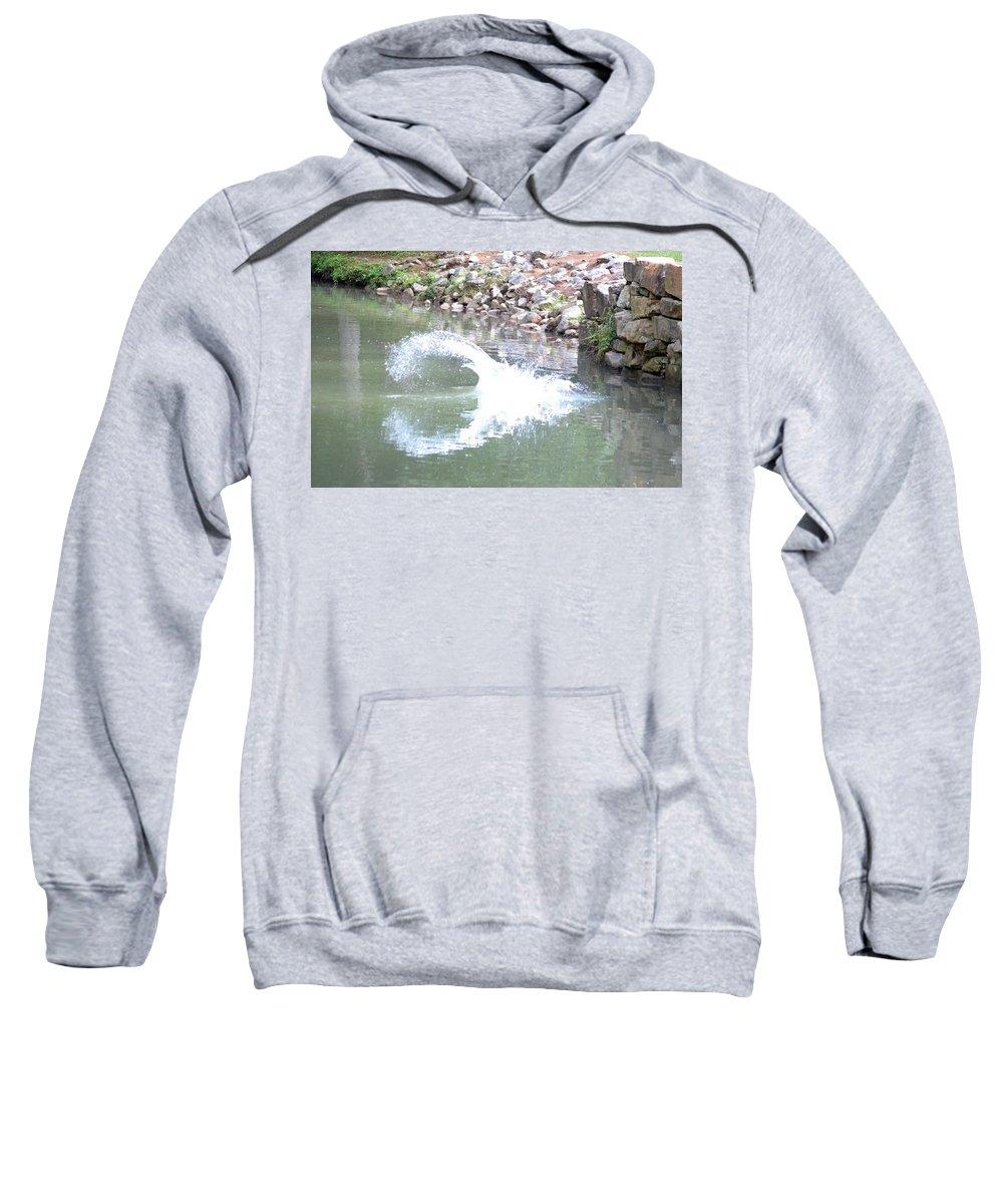 Splashdown Sweatshirt featuring the photograph Splashdown by Maria Urso