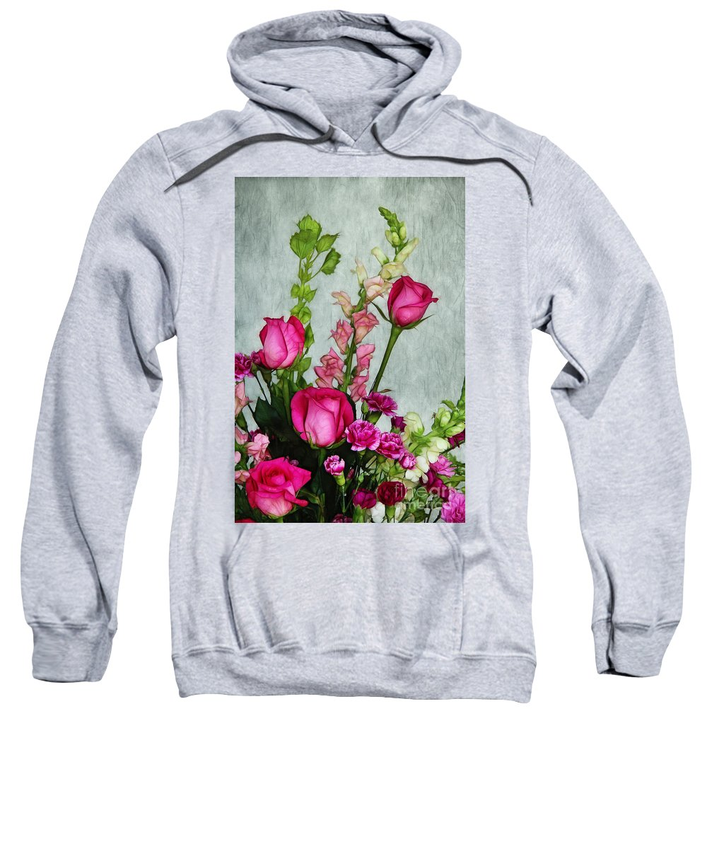 Roses Sweatshirt featuring the photograph Spray Of Flowers by Judi Bagwell