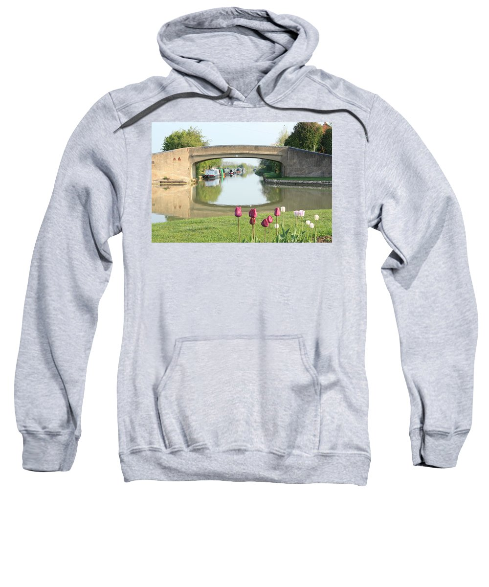 Inland Waterways Sweatshirt featuring the photograph Spring On The Oxford Canal by Linsey Williams