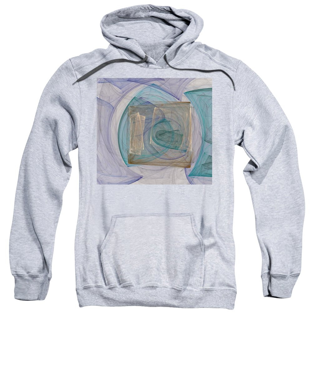Square Sweatshirt featuring the digital art Squared by Christy Leigh