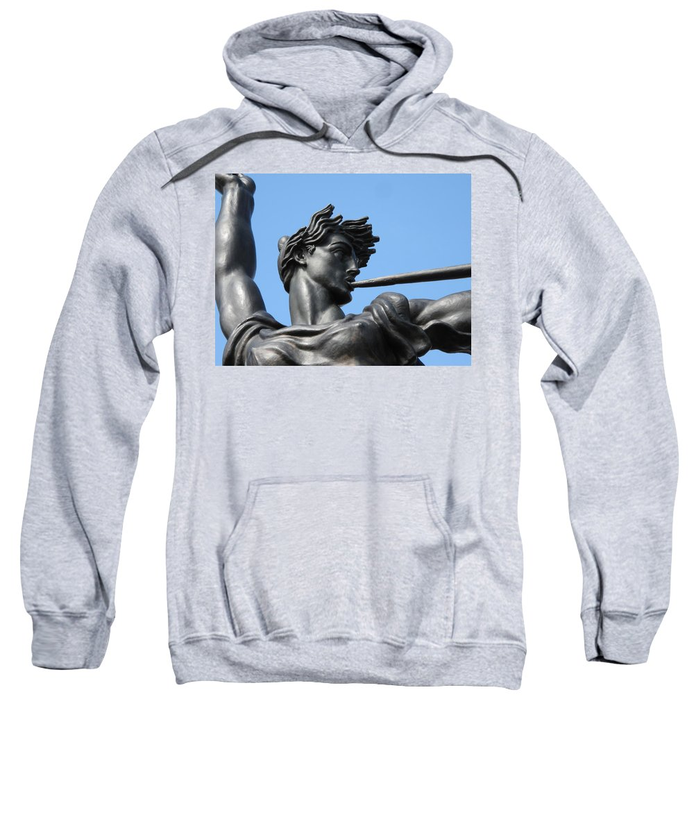 Statue Sweatshirt featuring the photograph Stand Strong by Michele Nelson