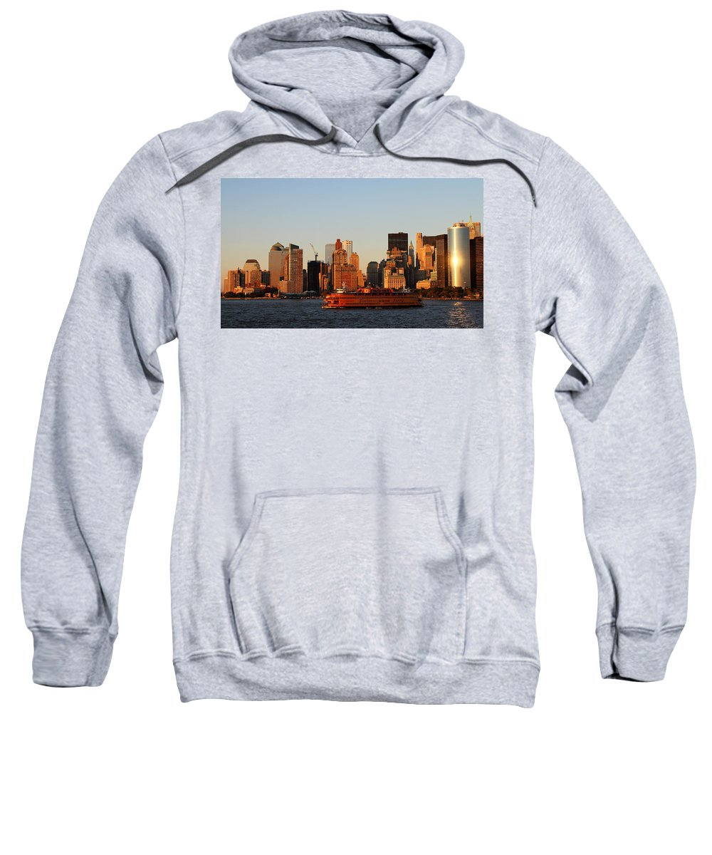 New York Sweatshirt featuring the photograph Staten Island Ferry 3 by Andrew Fare