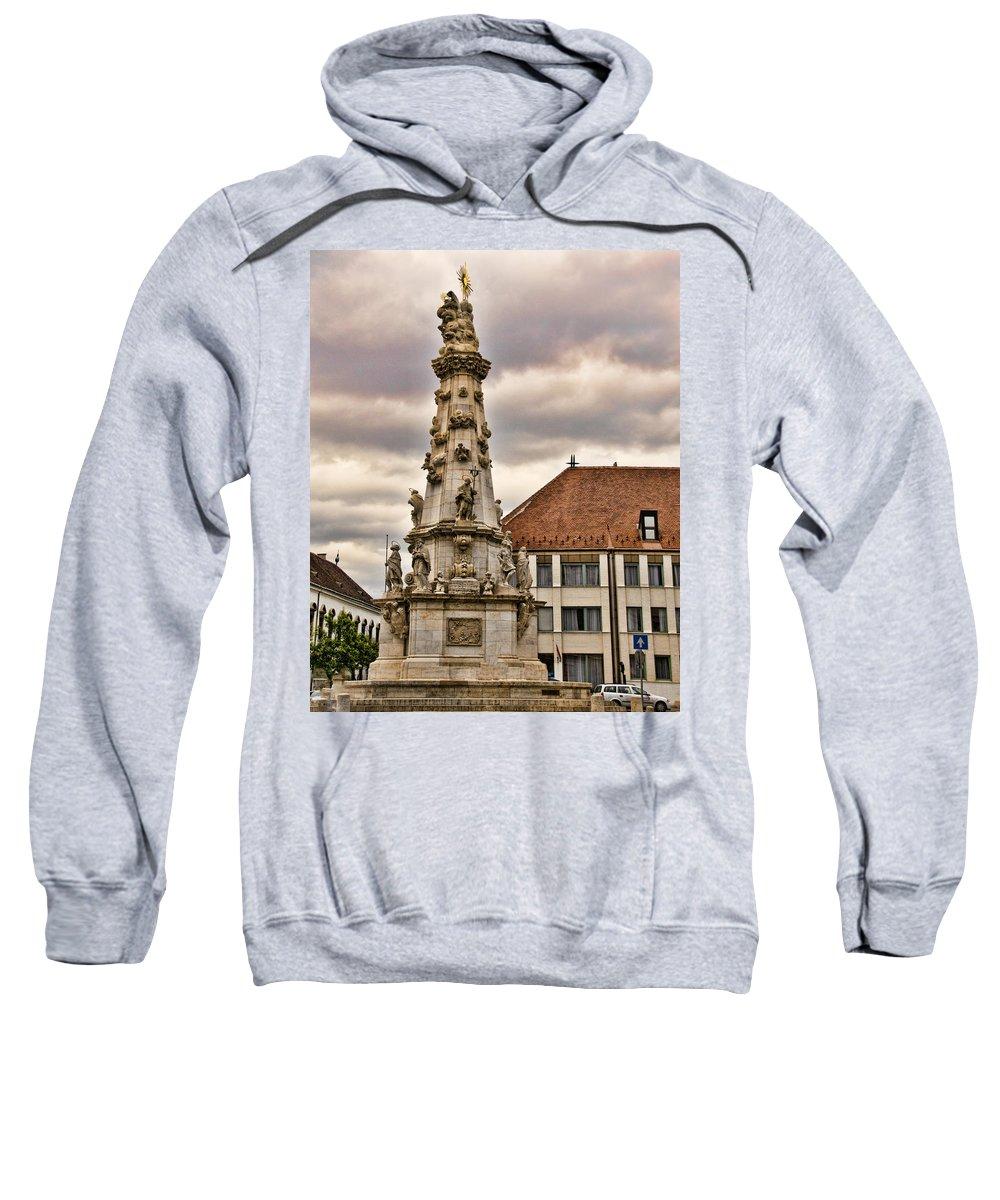 Matthias Church Sweatshirt featuring the photograph Statue At St Matthias Church by Jon Berghoff