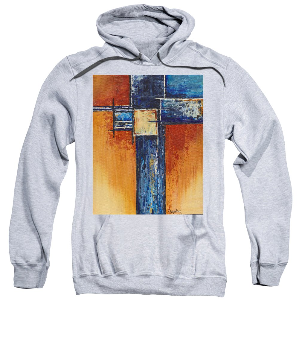 Gold Sweatshirt featuring the painting Stay Gold by Cindy Johnston