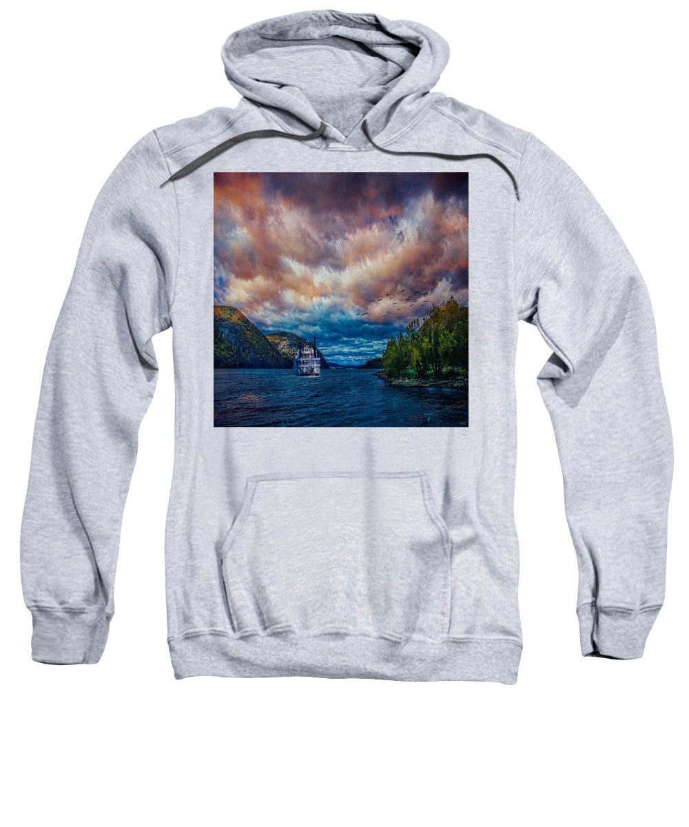Hills Sweatshirt featuring the photograph Steamboat On The Hudson River by Chris Lord