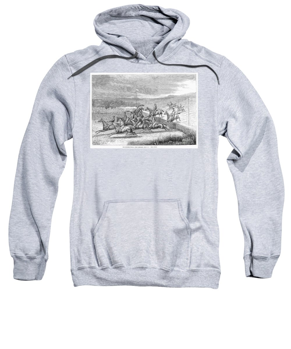 1863 Sweatshirt featuring the photograph Steeplechase, 1863 by Granger