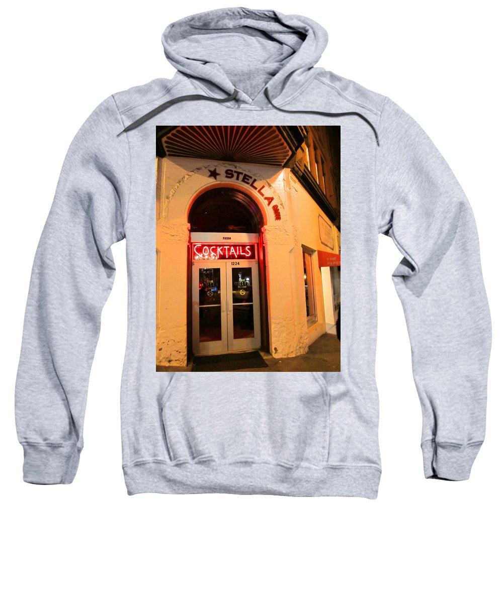 Bar Sweatshirt featuring the photograph Stella Cocktail Bar At Night by Kym Backland