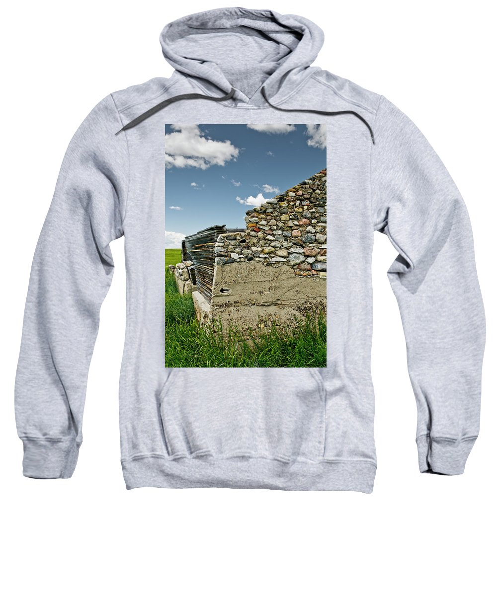 Americas Sweatshirt featuring the photograph Stone Wall by Roderick Bley
