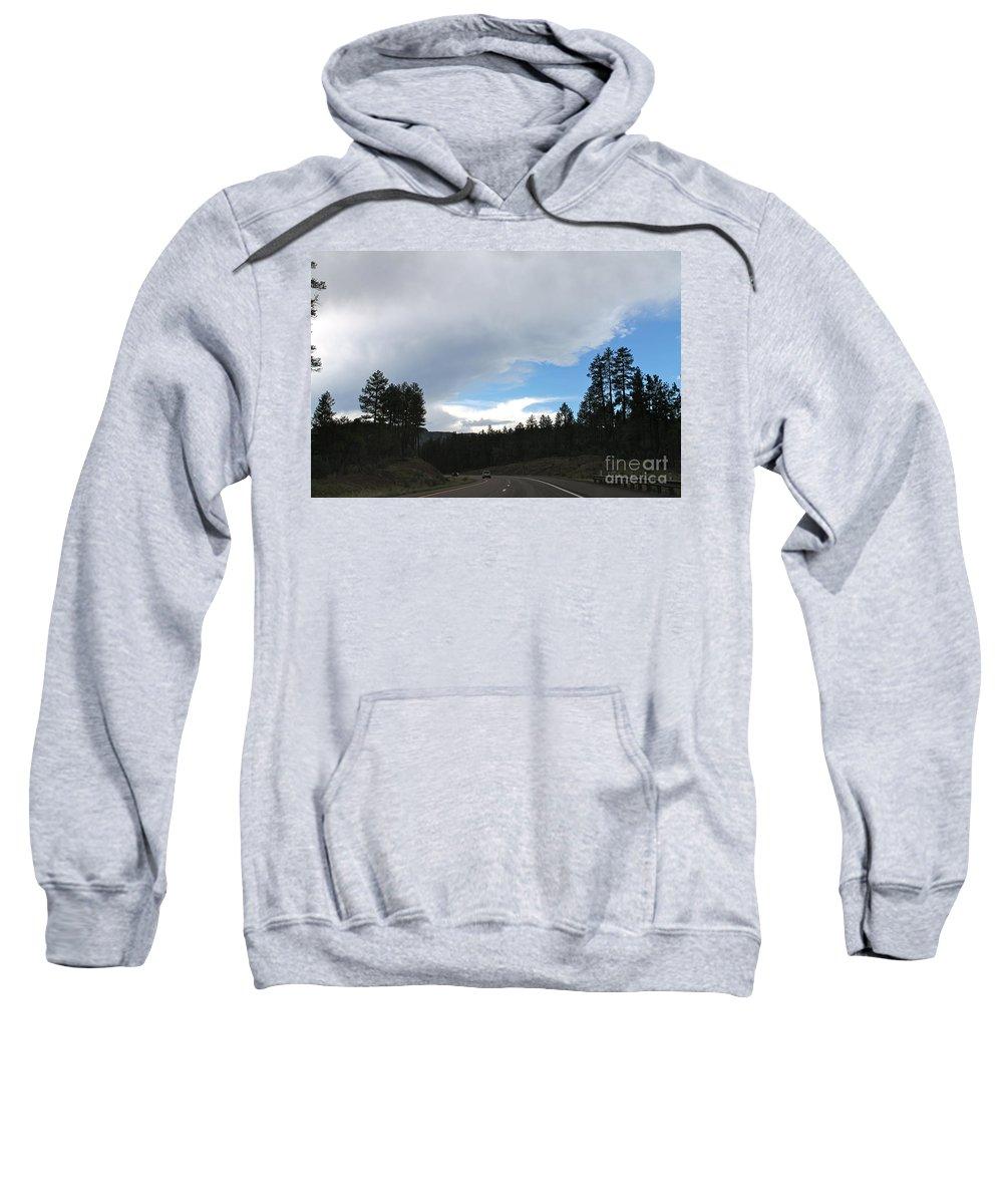 Rim Sweatshirt featuring the photograph Storm On Mogollon Rim by Pamela Walrath