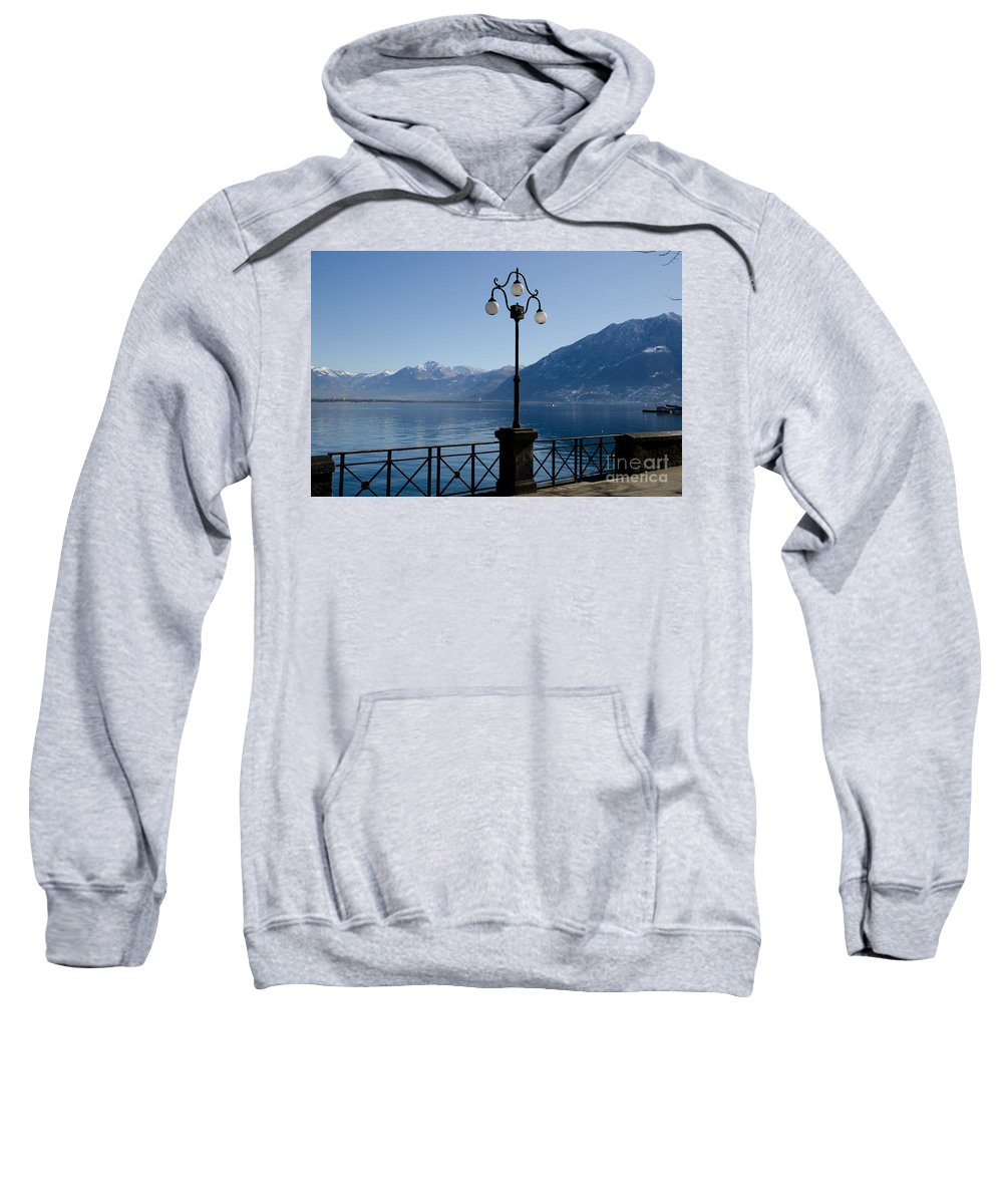 Street Lamp Sweatshirt featuring the photograph Street Lamp On The Lakefront by Mats Silvan