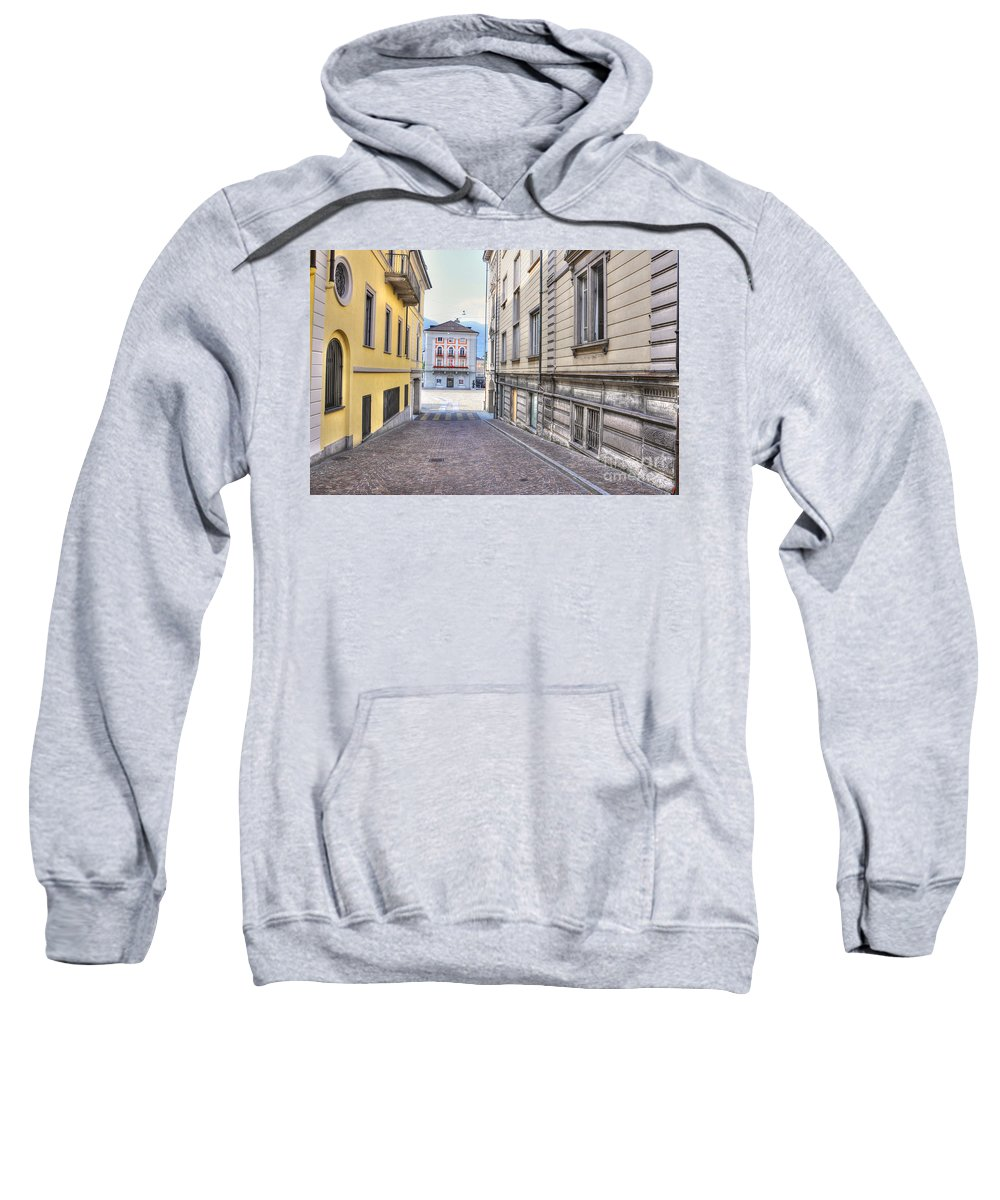 Alley Sweatshirt featuring the photograph Street With Houses by Mats Silvan