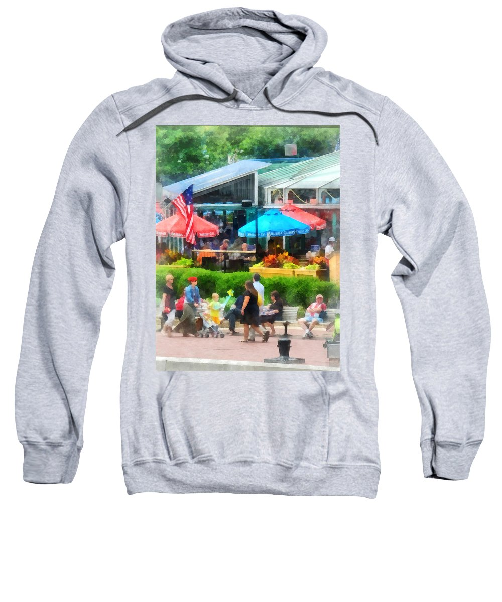 Baltimore Sweatshirt featuring the photograph Strolling Around Inner Harbor Baltimore by Susan Savad