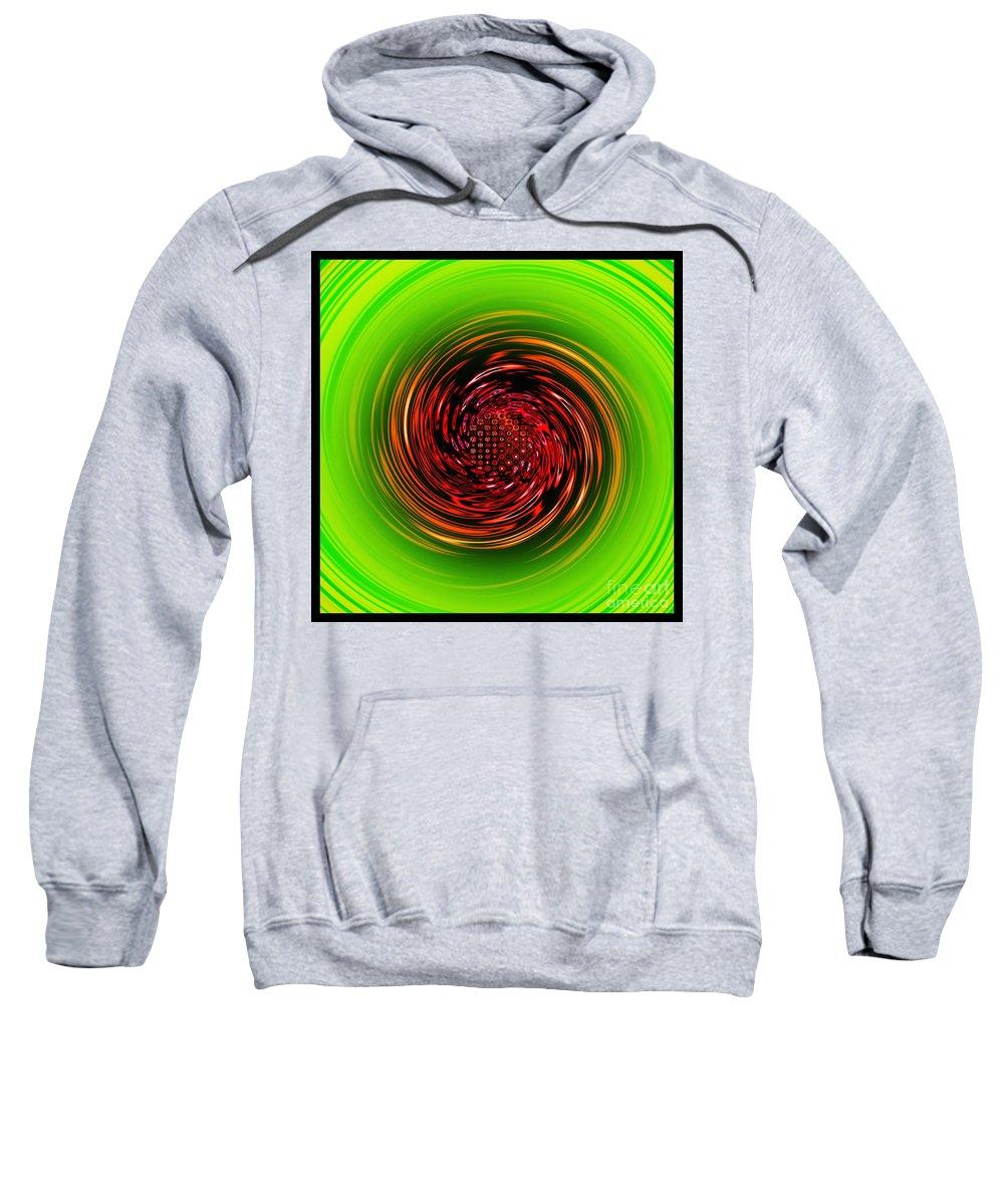 Digital Art Sweatshirt featuring the digital art Sucked In... by Kaye Menner