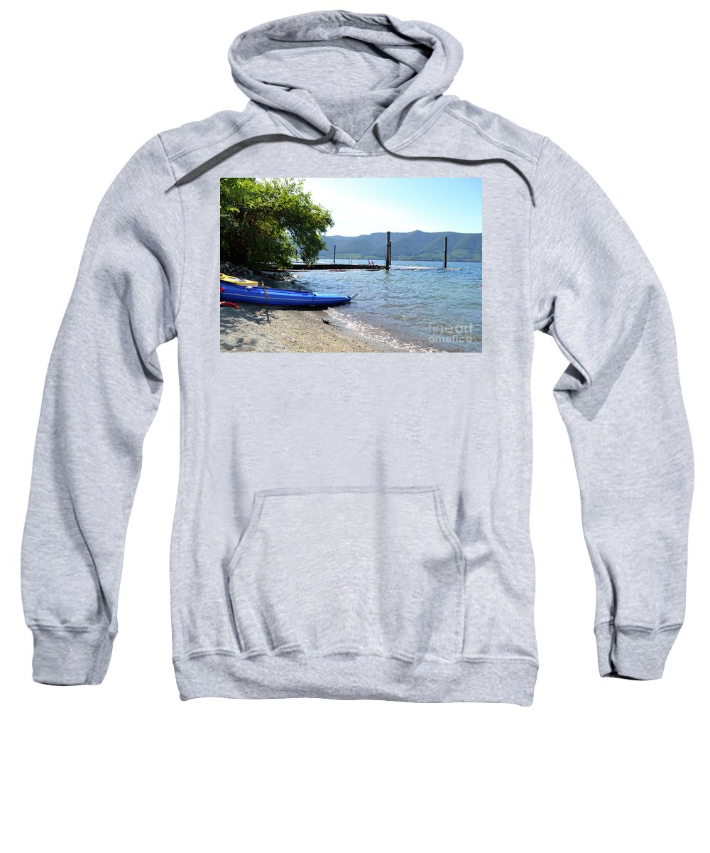 Ocean Sweatshirt featuring the photograph Summer Kayak by Traci Cottingham