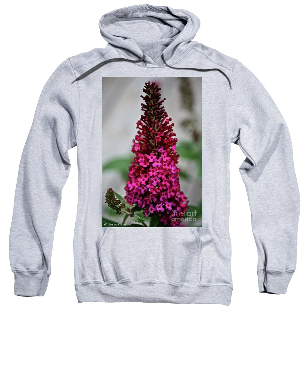 Floral Sweatshirt featuring the photograph Summer Lilac by Susan Herber