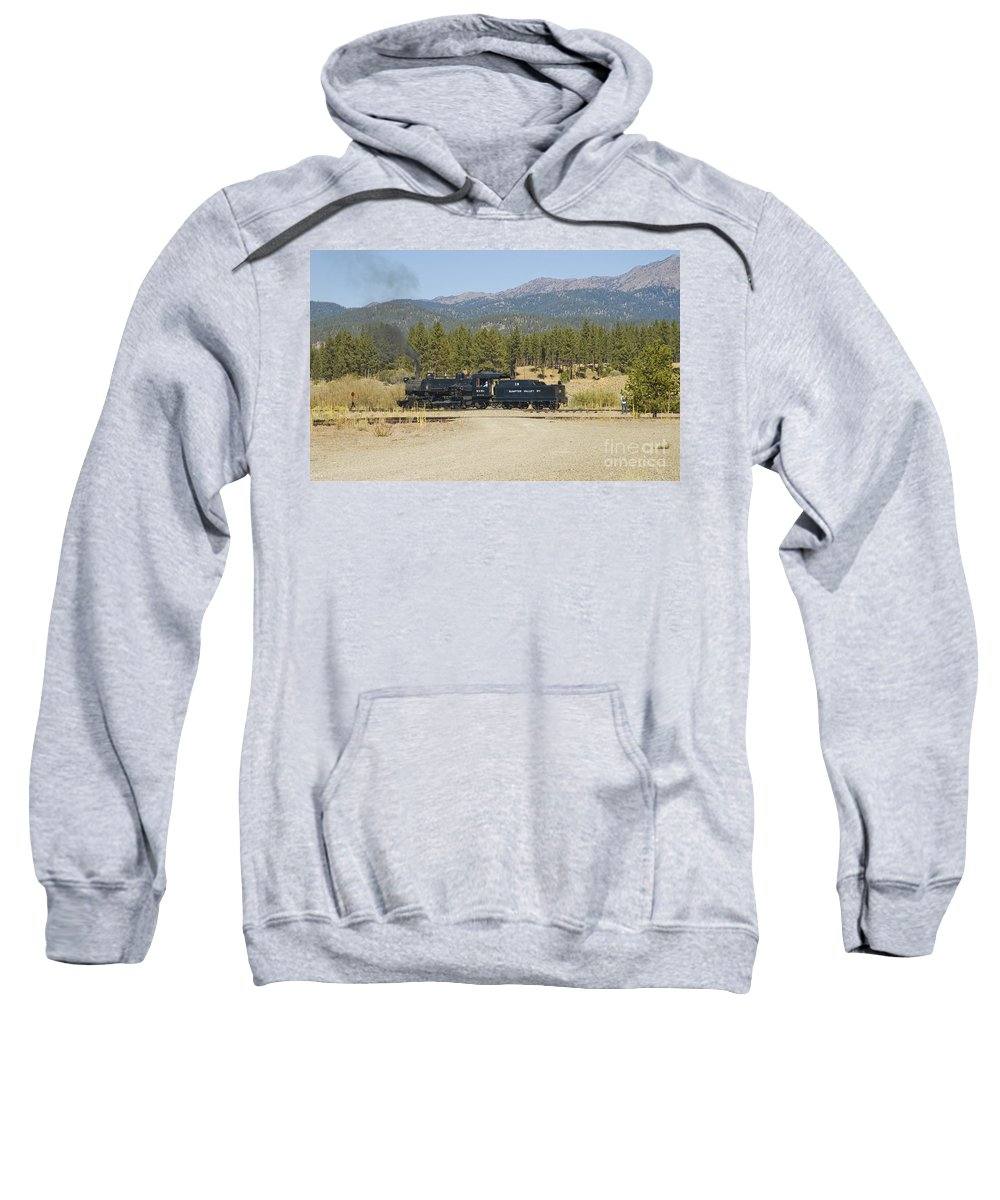 Narrow Gauge Sweatshirt featuring the photograph Sumpter Valley Railroad by Tim Mulina