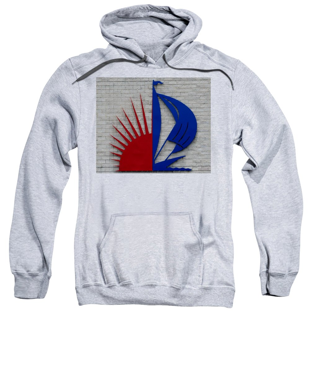 Sun Sweatshirt featuring the photograph Sun And Sails by Rob Hans