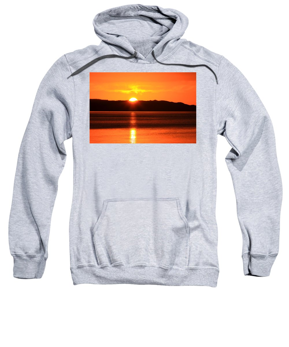 Sunrise Photography Sweatshirt featuring the photograph Sun Over Rotortua Nz by Rebecca Akporiaye