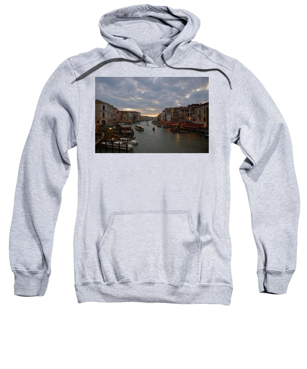 Sunset Sweatshirt featuring the photograph Sun Sets Over Venice by Eric Tressler