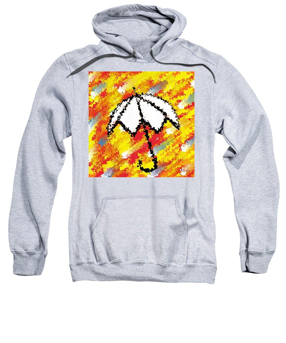 Sun Sweatshirt featuring the digital art Sun Shade by Alec Drake