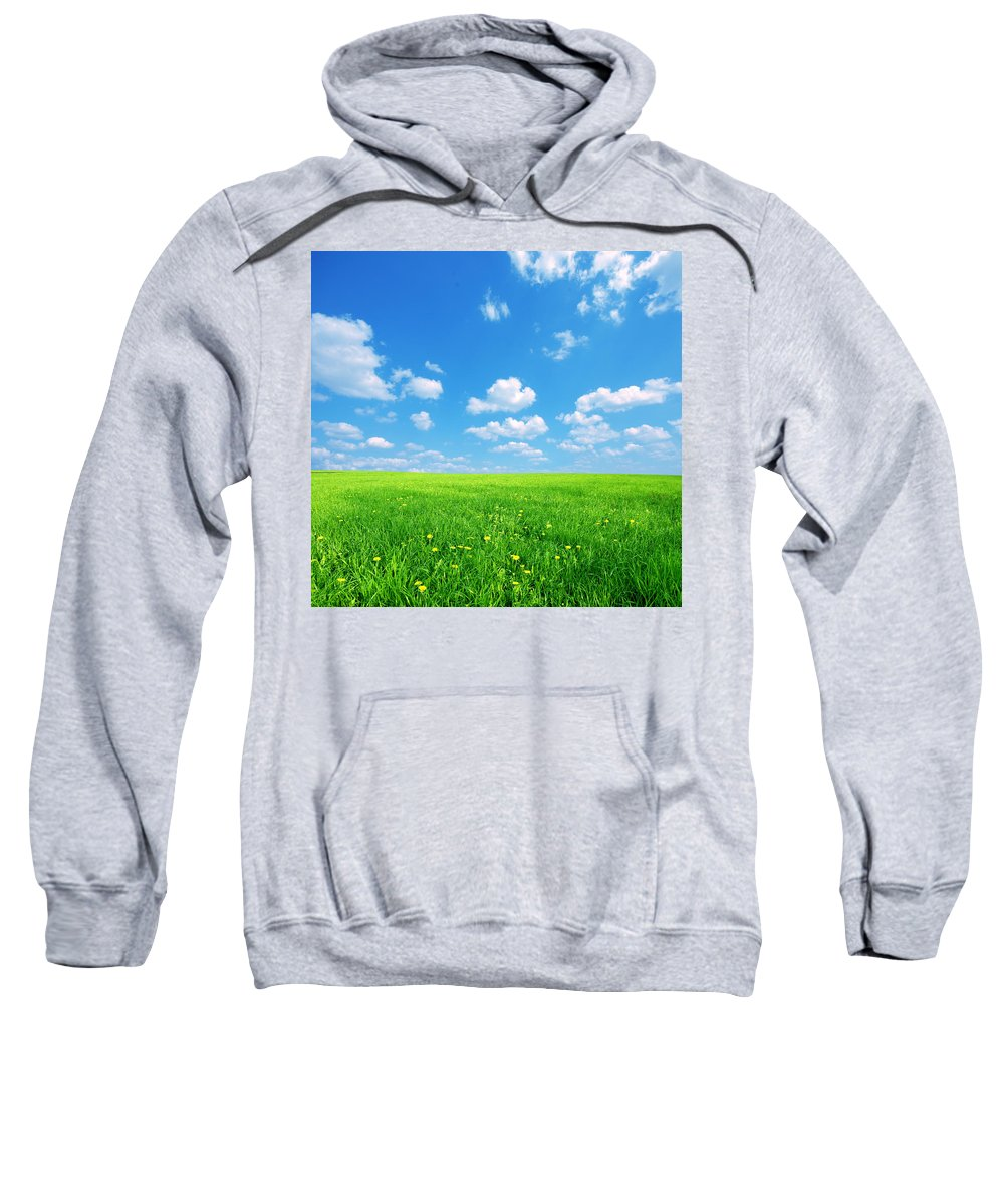 Agriculture Sweatshirt featuring the photograph Sunny Spring Landscape by Michal Bednarek