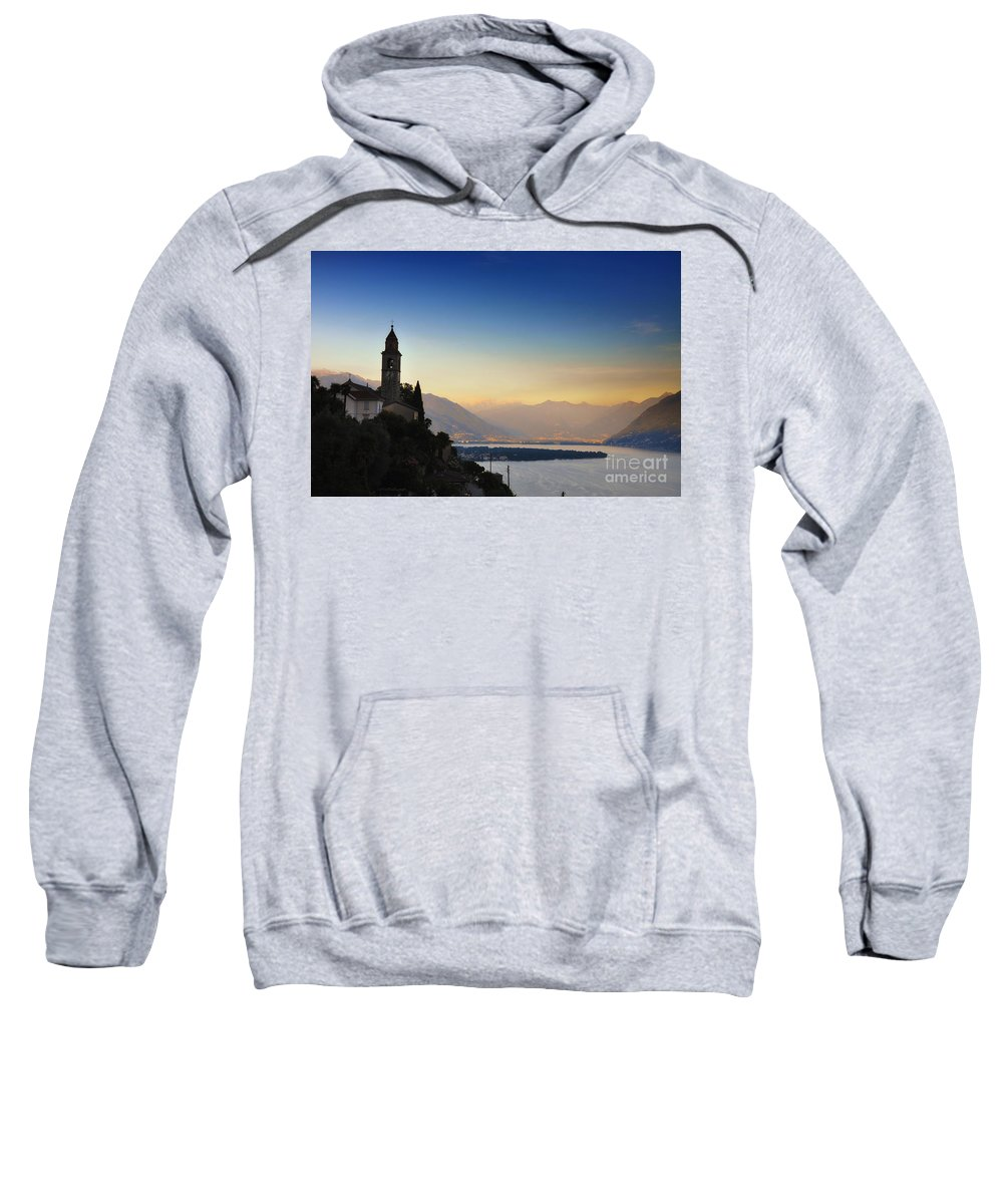 Tower Sweatshirt featuring the photograph Sunrise Over An Alpine Lake by Mats Silvan