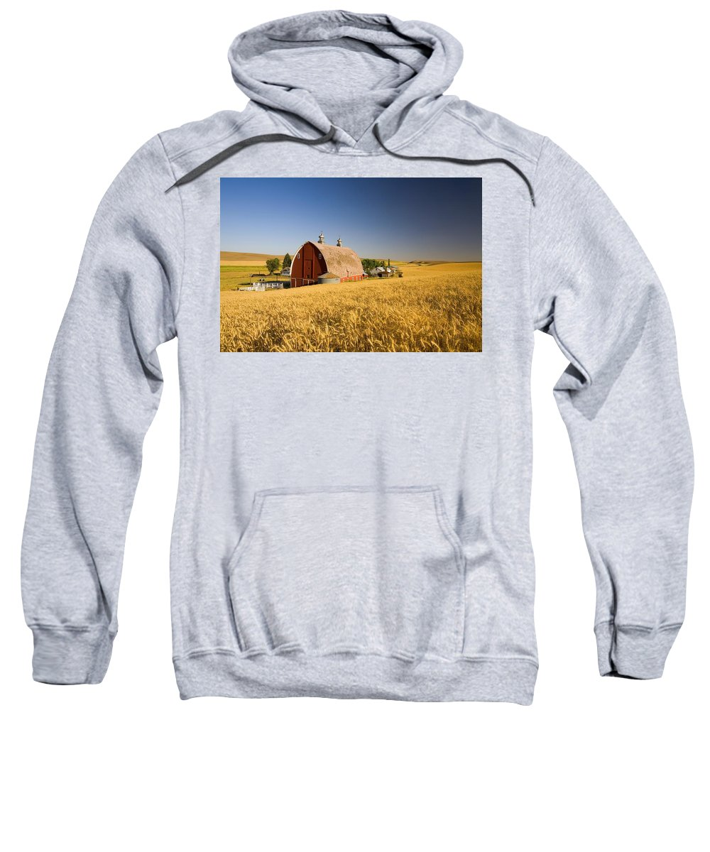 Tuttle Sweatshirt featuring the photograph Sunset Barn And Wheat Field Steptoe by Craig Tuttle