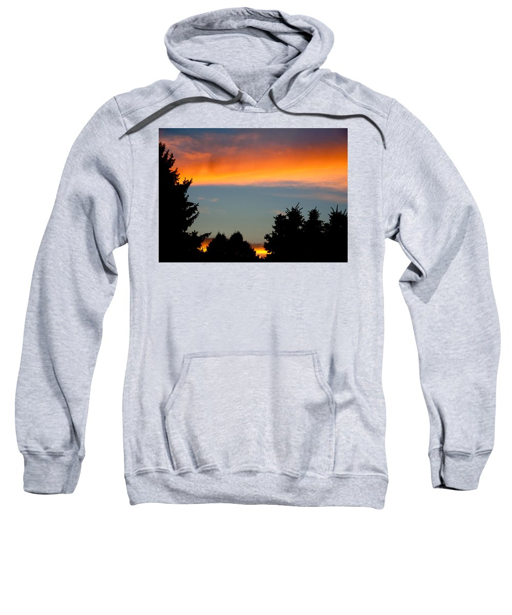 Photography Sweatshirt featuring the photograph Sunset Charlestown In July by Steven Natanson