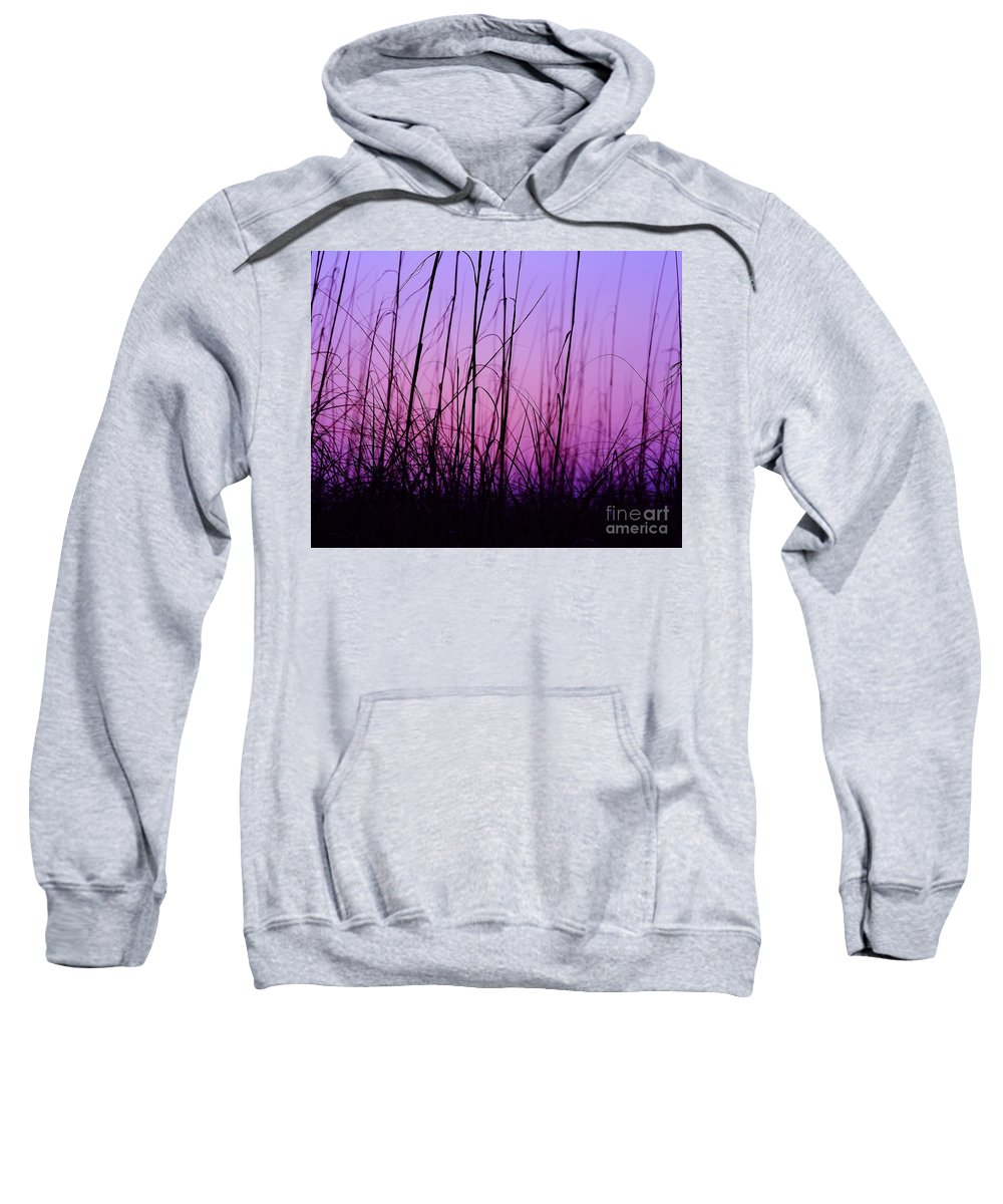 Silhouette Sweatshirt featuring the photograph Sunset Grasses by Al Powell Photography USA