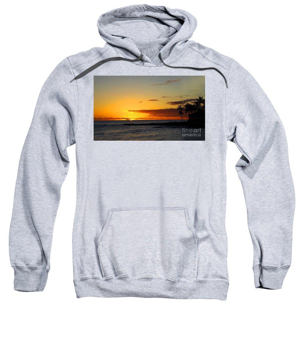 Kauai Sweatshirt featuring the photograph Sunset On Kauai by Dana Kern