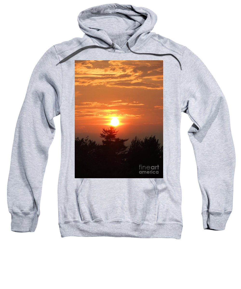 Maine Sweatshirt featuring the photograph Sunset Over Maine by Meandering Photography