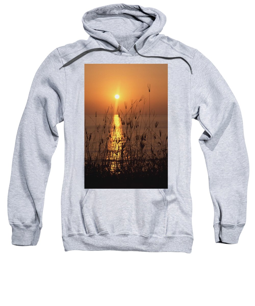Photography Sweatshirt featuring the photograph Sunset Over Pacific by Axiom Photographic