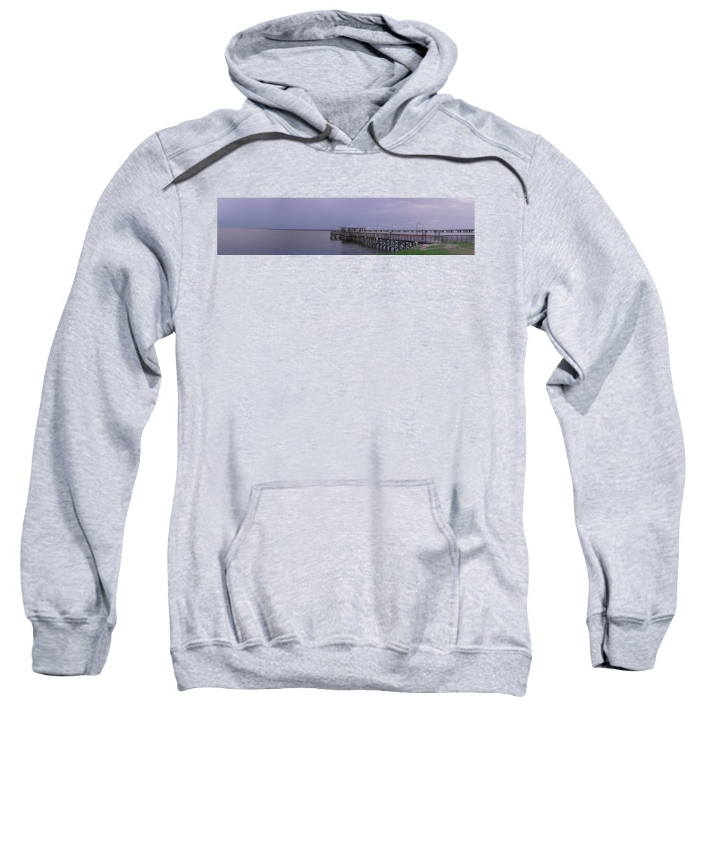 Pier Sweatshirt featuring the photograph Sunset Point Pier by Anthony Walker Sr