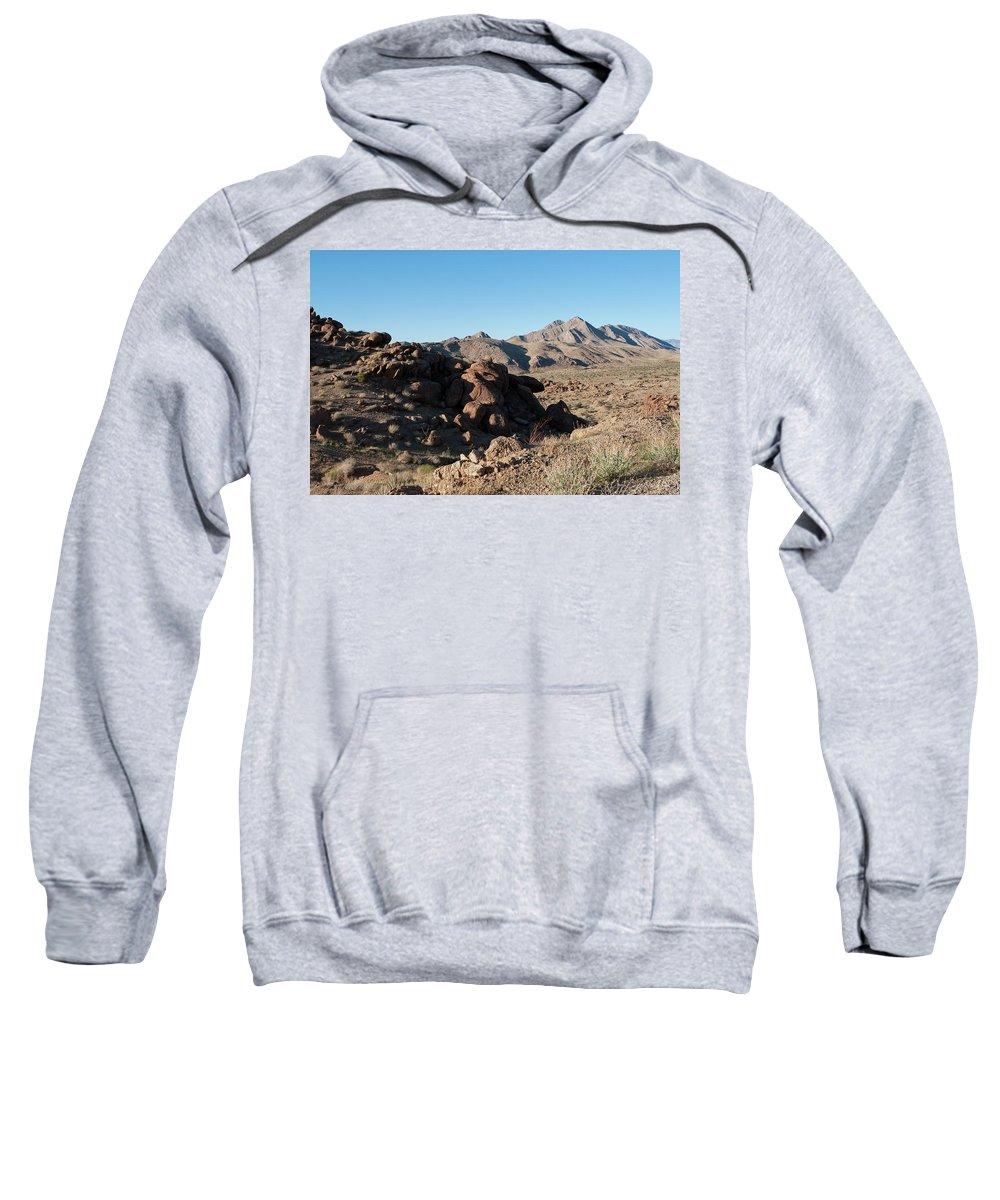 Gold Butte Region Sweatshirt featuring the photograph Sunspot Hill by Lorraine Devon Wilke