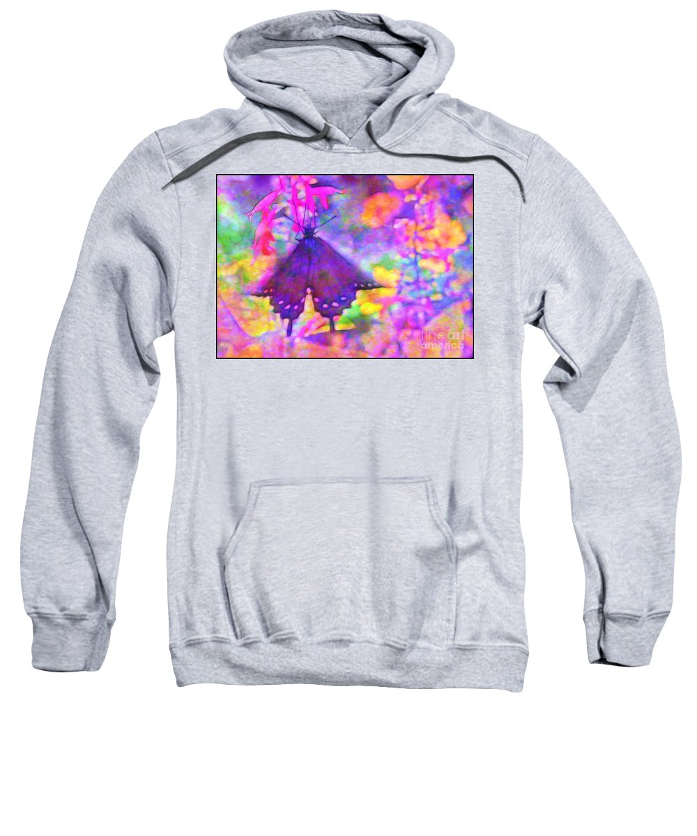 Swallowtail Sweatshirt featuring the photograph Swallowtail by Judi Bagwell
