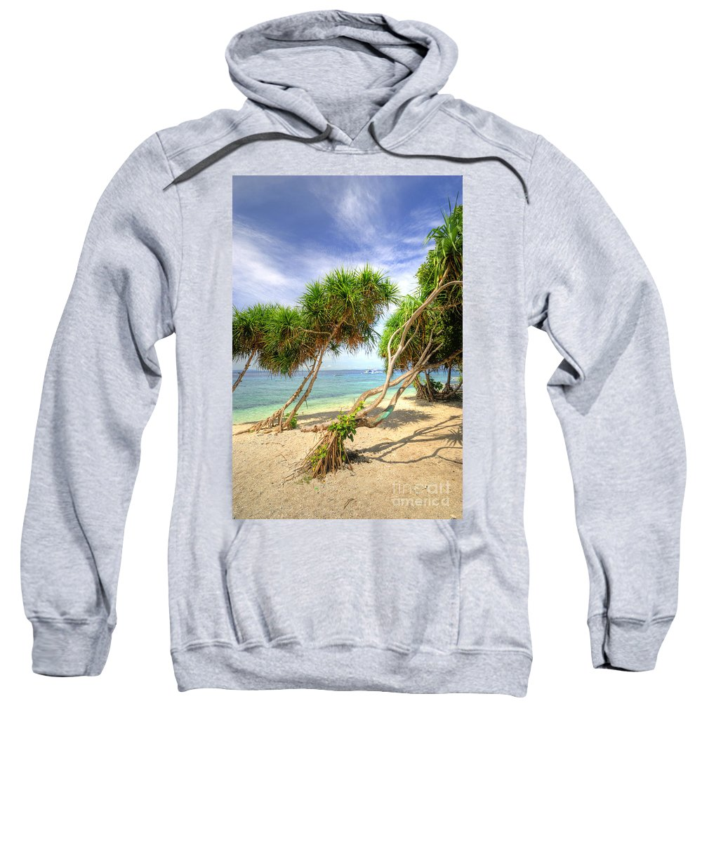 Yhun Suarez Sweatshirt featuring the photograph Swaying Palm Trees by Yhun Suarez