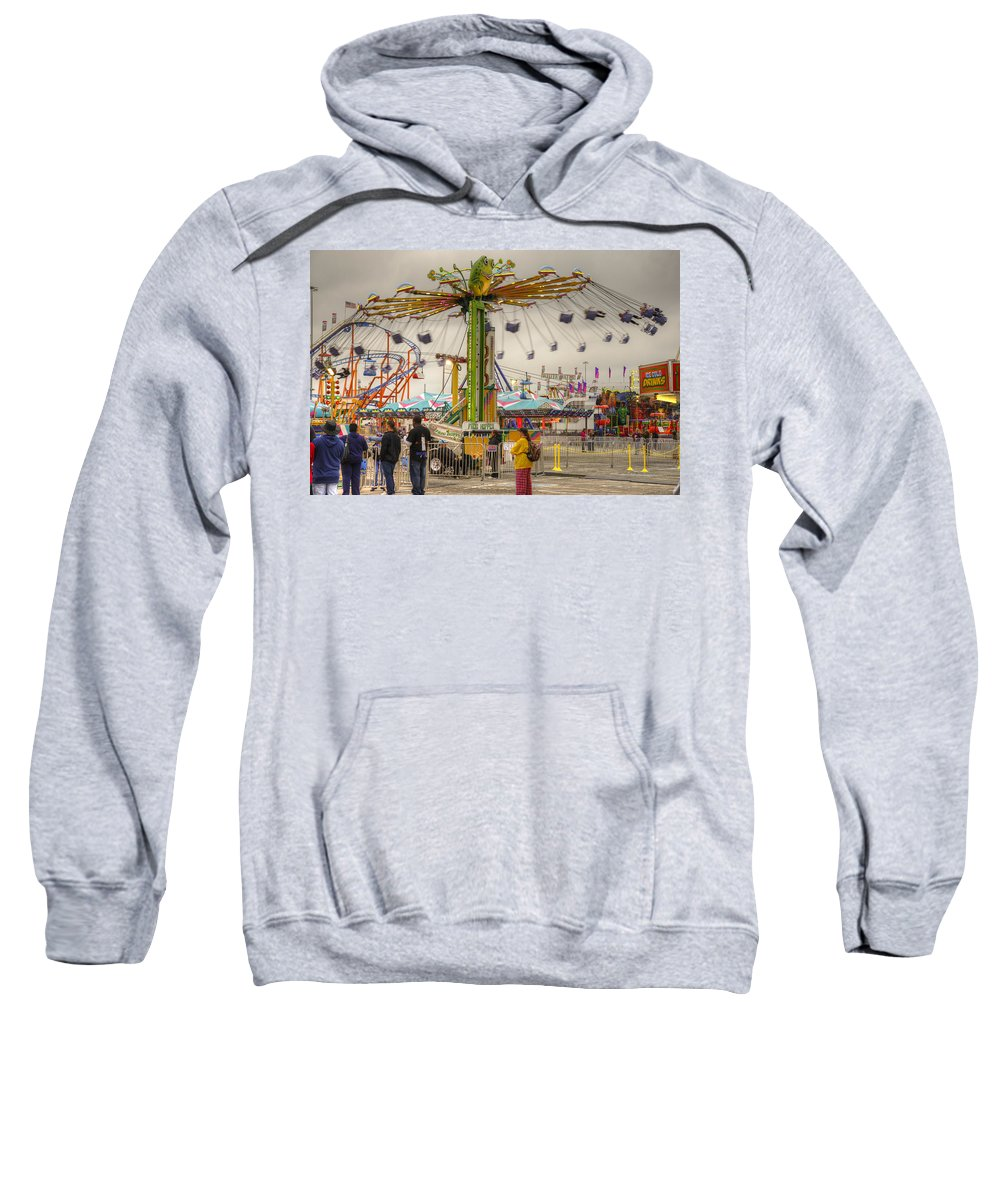 Fair Sweatshirt featuring the photograph Swinging by Ricky Barnard